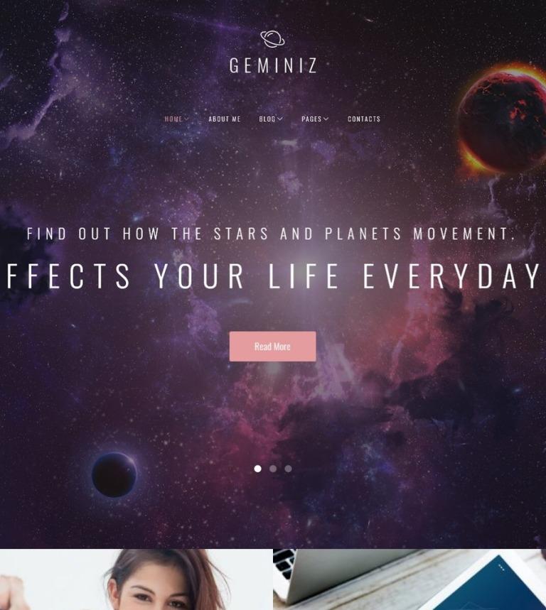 Tema de WordPress #63538 para Sitio de Astrología