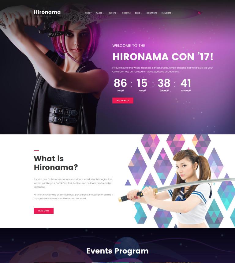 Manga WordPress Theme