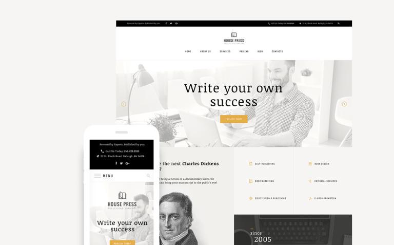House Press - Publishing Company WordPress Theme New Screenshots BIG