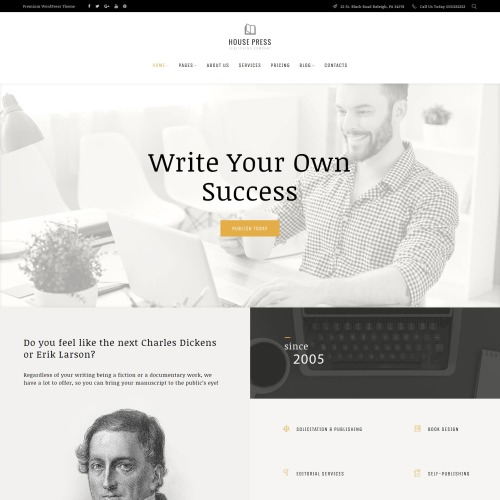 House Press  - HTML5 WordPress Template