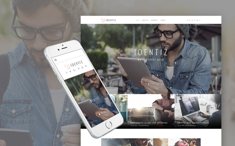 Identiz - Personal Blog WordPress Theme New Screenshots BIG