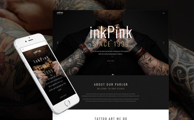InkPink - Tattoo Studio WordPress Theme New Screenshots BIG