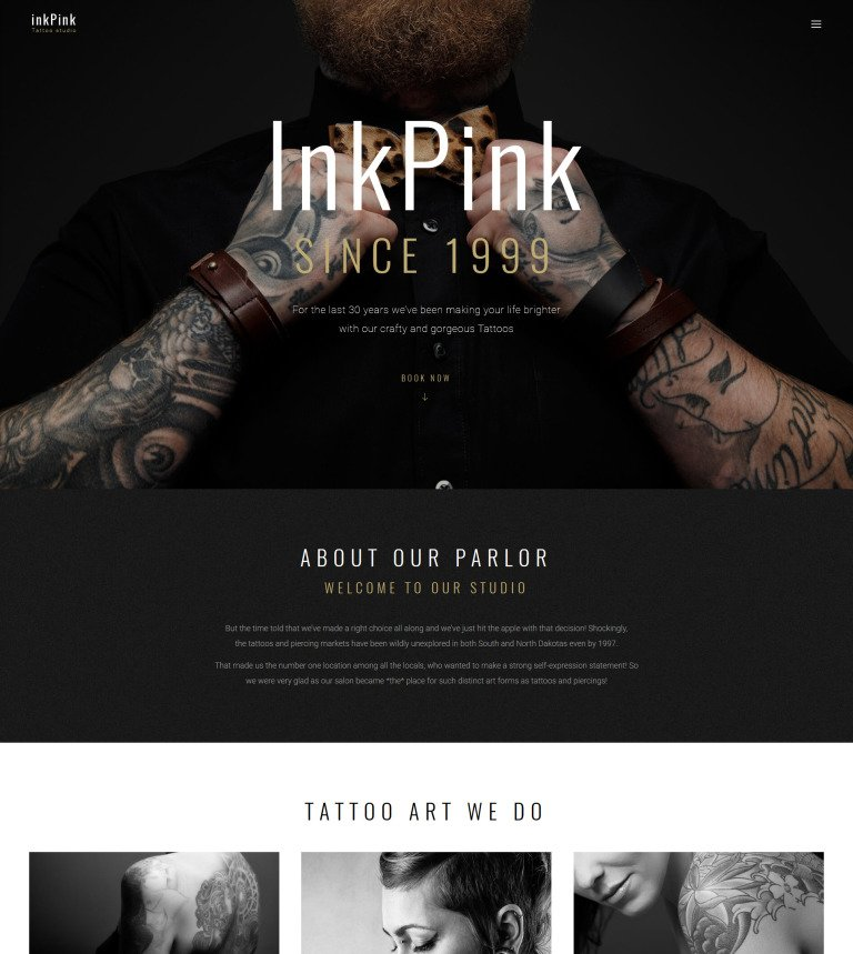 Tattoo Studio WordPress Theme