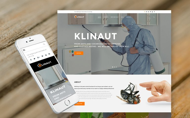 Klinaut - Pest Control WordPress Theme New Screenshots BIG