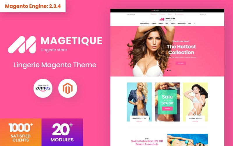 Magetique - Lingerie Magento Theme