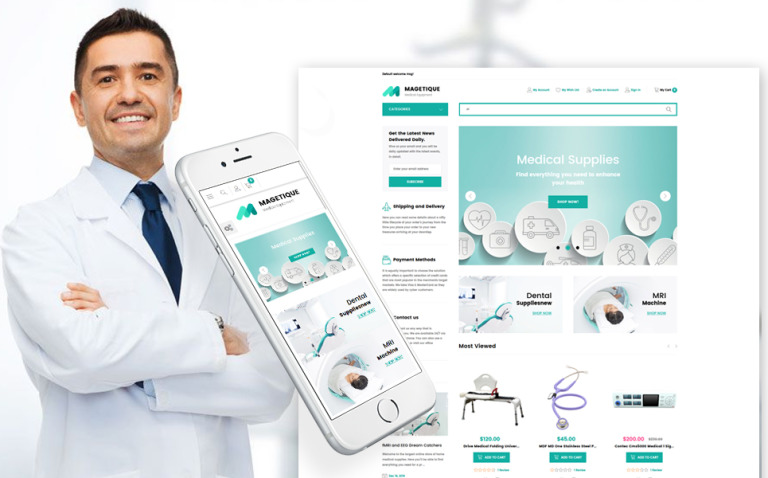 Magetique - Medical Equipment Store Responsive Magento 2 Theme New Screenshots BIG