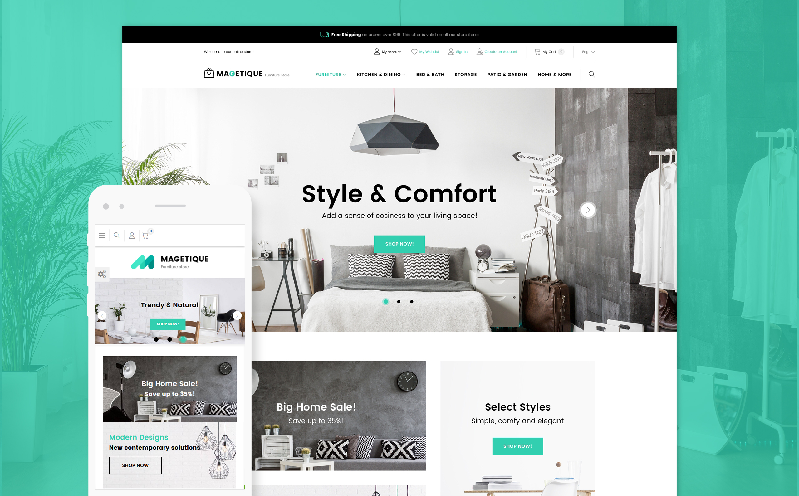 . Modern Furniture Magento 2 Store