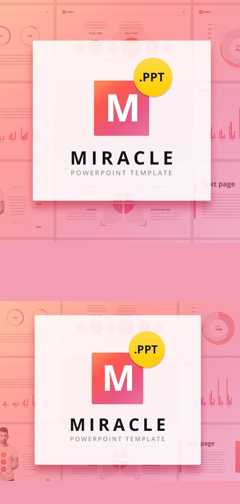 Miracle PowerPoint sablon 63583