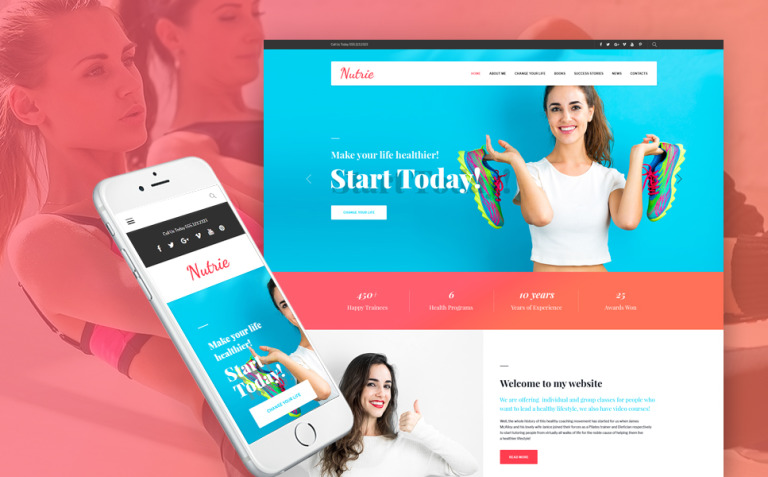Nutrie - Health Coach WordPress Theme New Screenshots BIG
