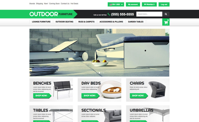 Outdoor Furniture X-Cart Template New Screenshots BIG