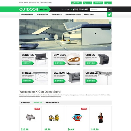 Outdoor Furniture - X-Cart Template based on Bootstrap