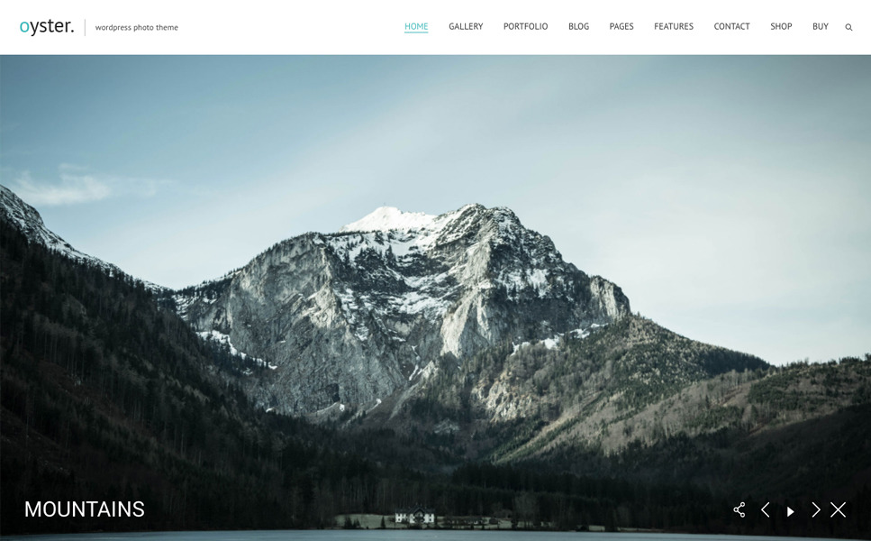 Oyster - Fullscreen Photo and Video Website Template New Screenshots BIG