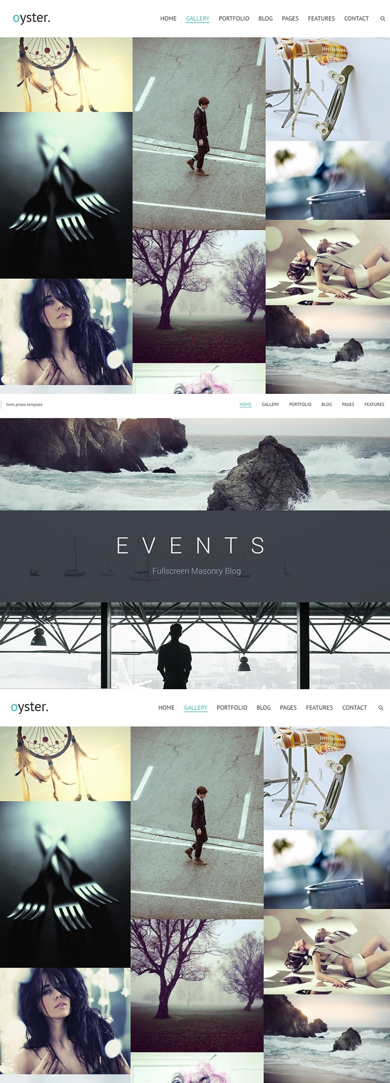 oyster fullscreen photo and video website template 63501