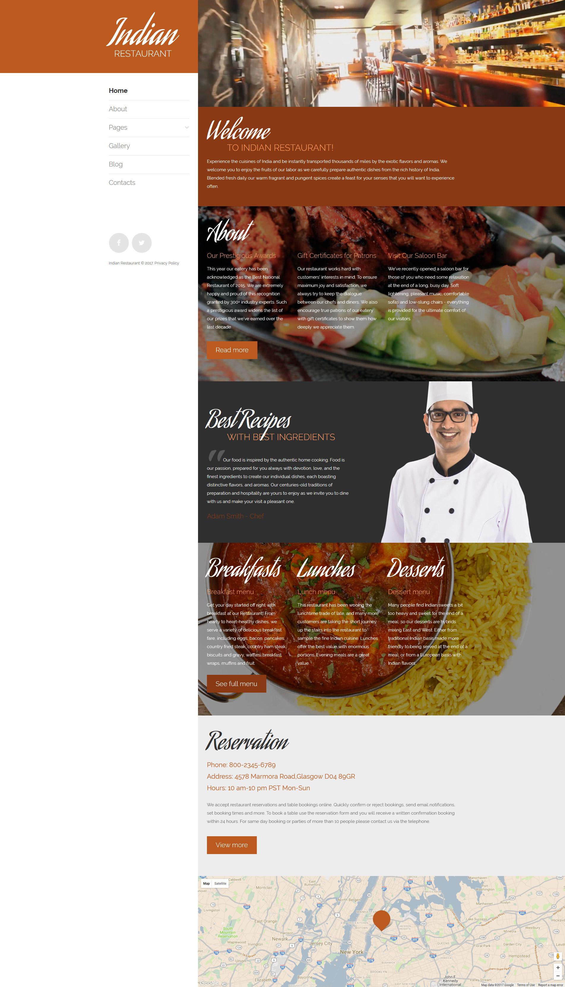 Plantilla Joomla #63594 para Sitio de Restaurantes indios