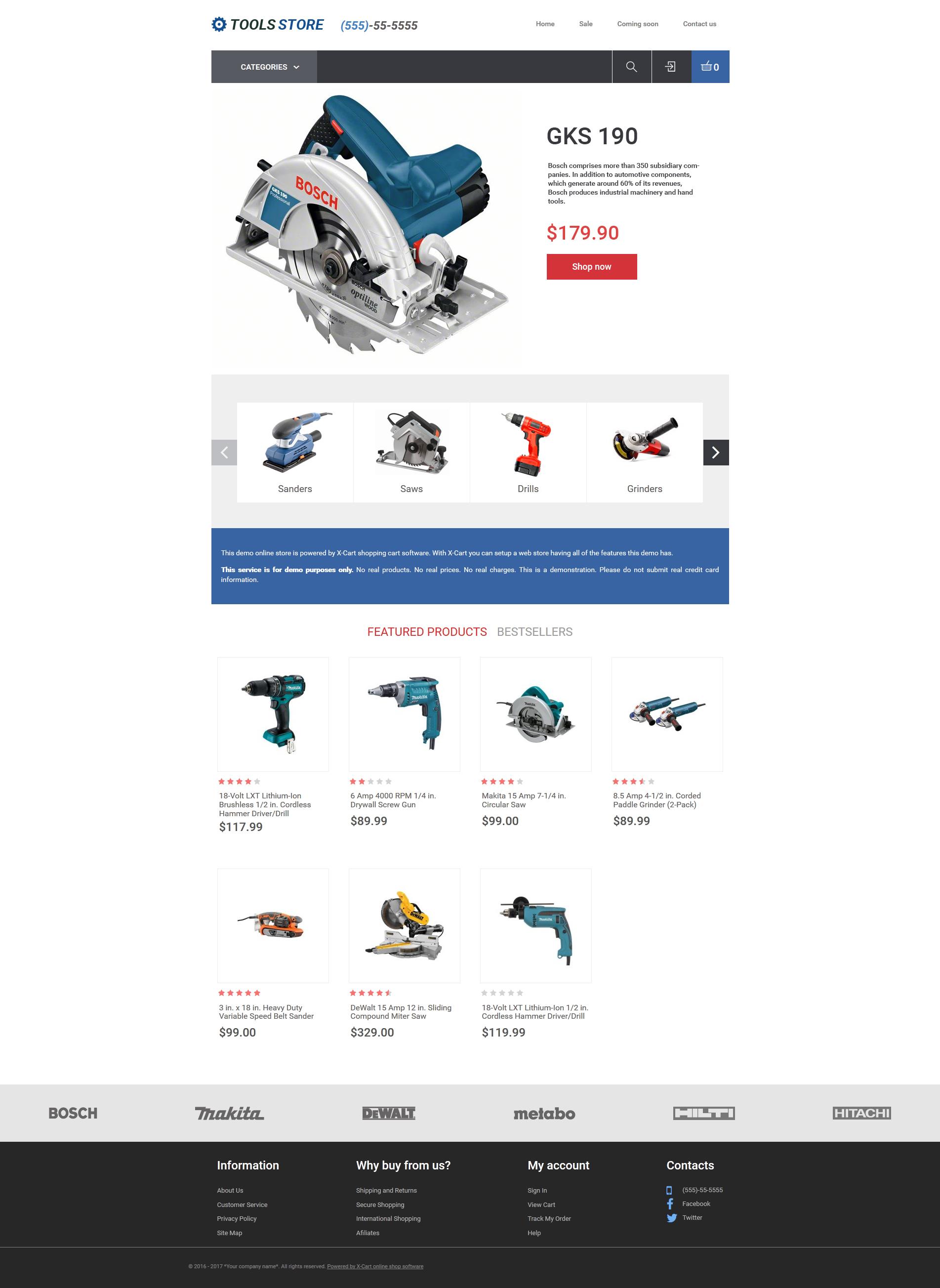 Plantilla X-Cart #63519 para Sitio de Herramientas y Equipos