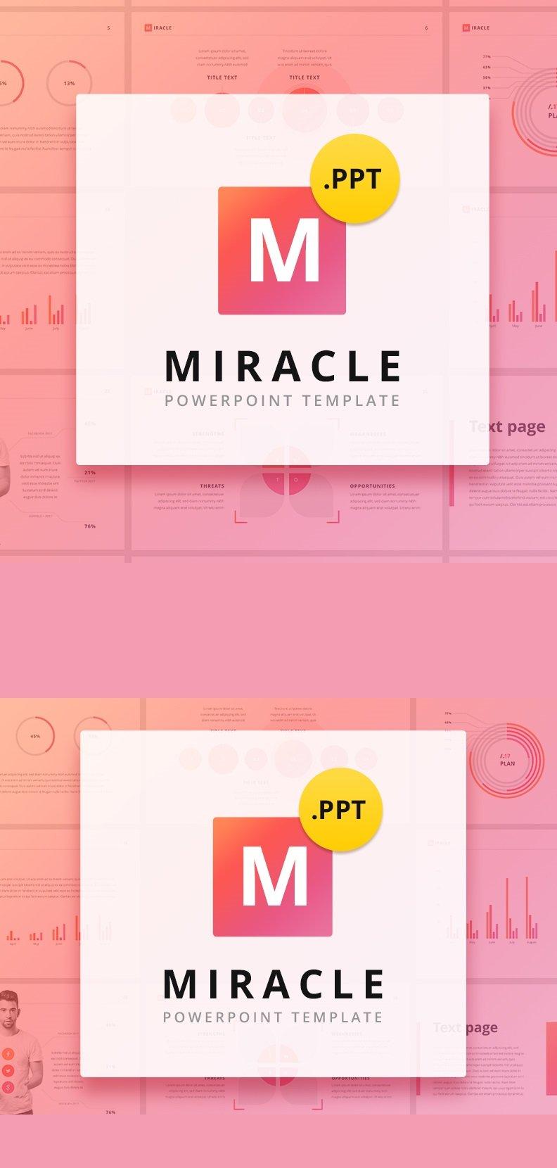 """PowerPoint šablona """"Miracle"""" #63583"""
