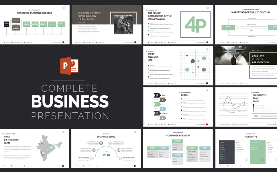 PowerPoint Vorlage #63510 für Business Services