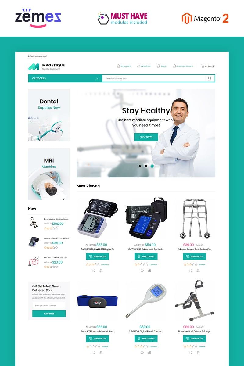 Responsive Magetique - Medical Equipment Magento #63512