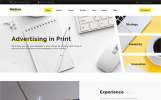 Responsive Website template over Marketingbureau