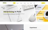 Responsive Website Vorlage für Marketing-Agentur