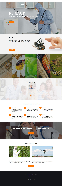 Responsywny motyw WordPress Klinaut - Pest Control #63531 - zrzut ekranu