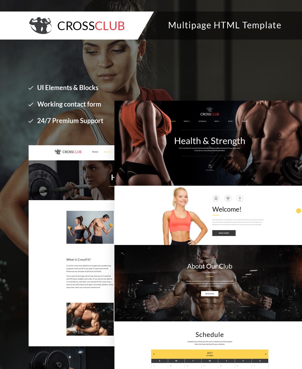 """Responzivní Šablona webových stránek """"Crossclub - Bodybuilding & Crossfit Responsive Multipage"""" #63500"""