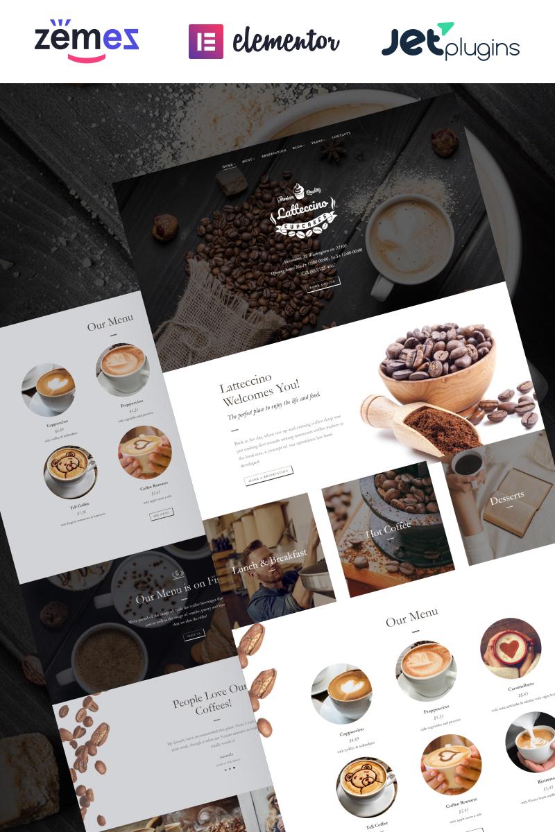 "Responzivní WordPress motiv ""Latteccino - Coffee Shop"" #63569"