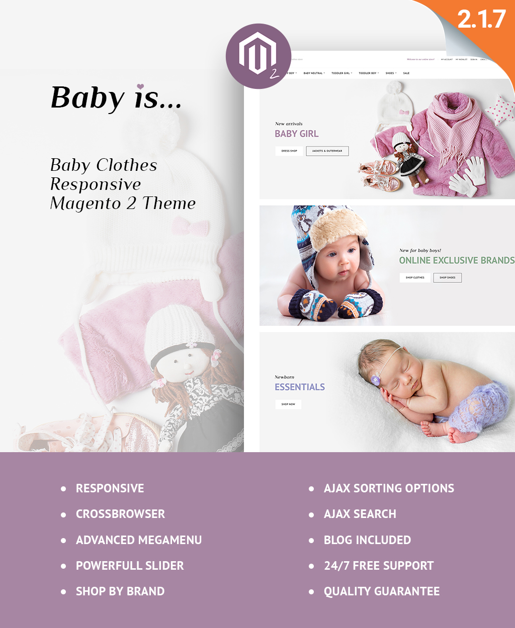 Reszponzív Babyis - Baby Clothes Store Responsive Magento sablon 63587
