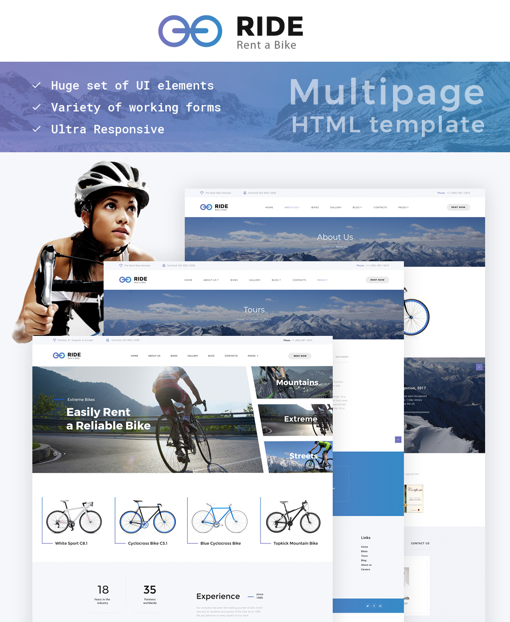 Reszponzív Bike Shop Responsive Weboldal sablon 63508
