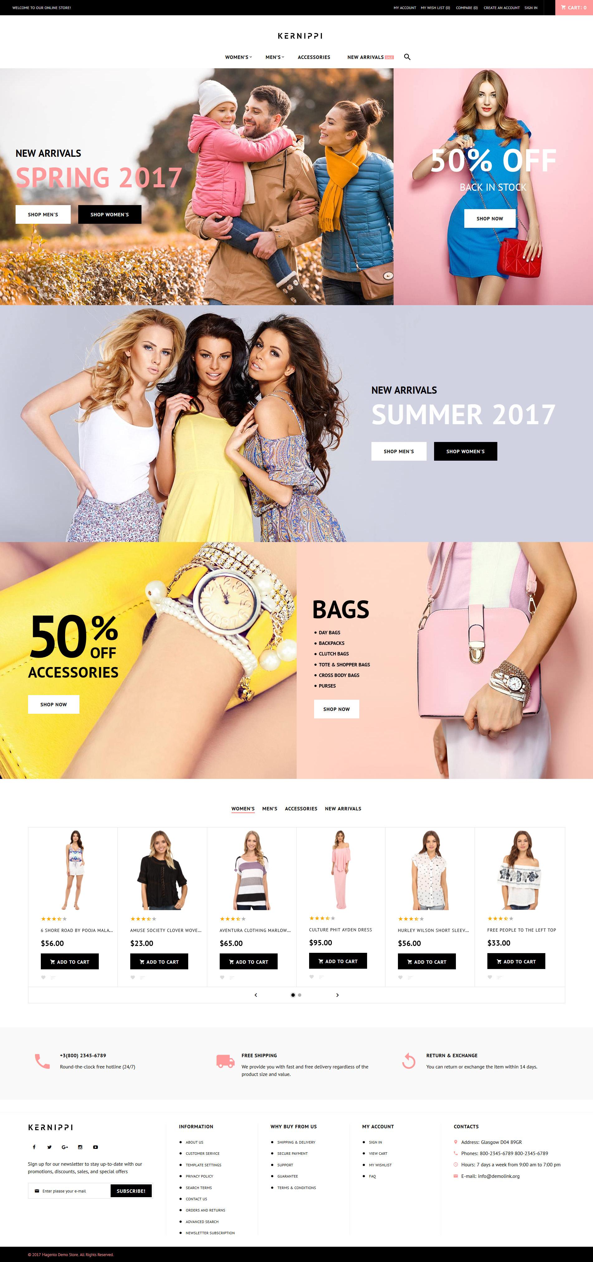 Reszponzív Kernippi - Apparel Store Magento sablon 63586