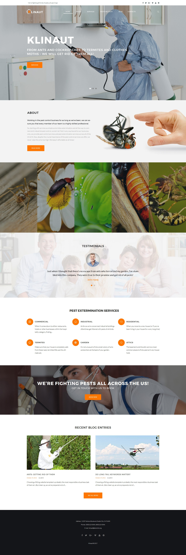 Reszponzív Klinaut - Pest Control WordPress sablon 63531 - képernyőkép