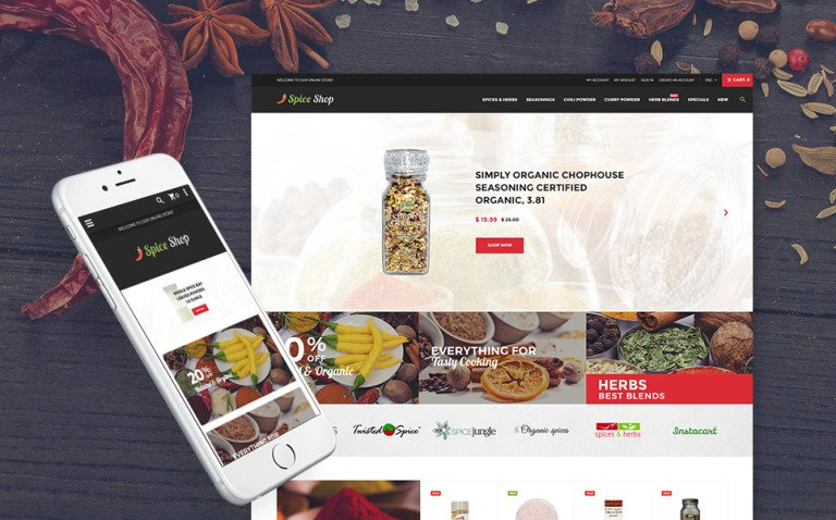 Spice Shop - Seasonings and Herbs Store Responsive Magento Theme New Screenshots BIG