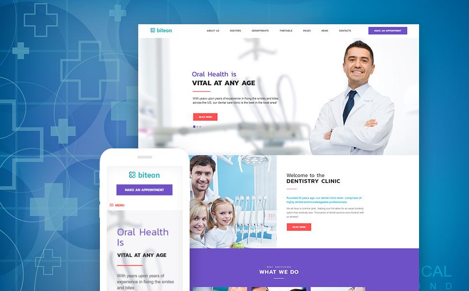 Tema de WordPress #63546 para Sitio de Odontología