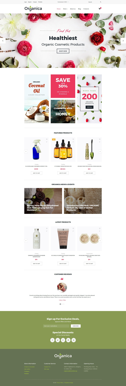 Thème VirtueMart pour boutique de cosmétique #63566