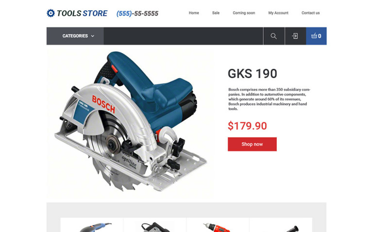 Tools Store X-Cart Template New Screenshots BIG