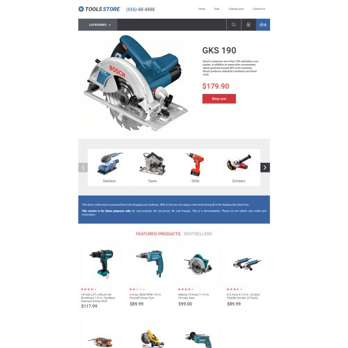 Tools Store - X-Cart Template based on Bootstrap