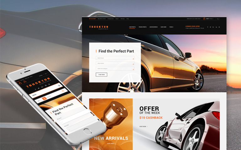 Trucktun - Parts for Cars PrestaShop Theme New Screenshots BIG