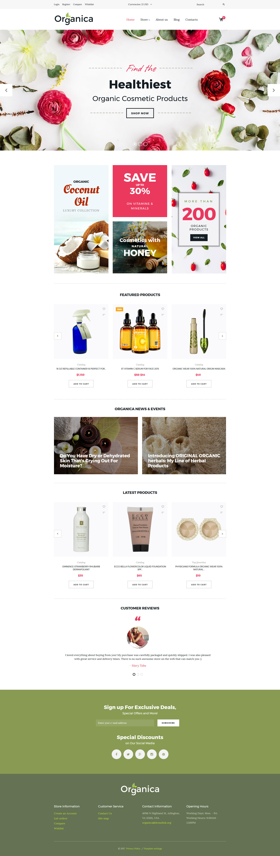 VirtueMart Vorlage für Kosmetik-Geschäft #63566