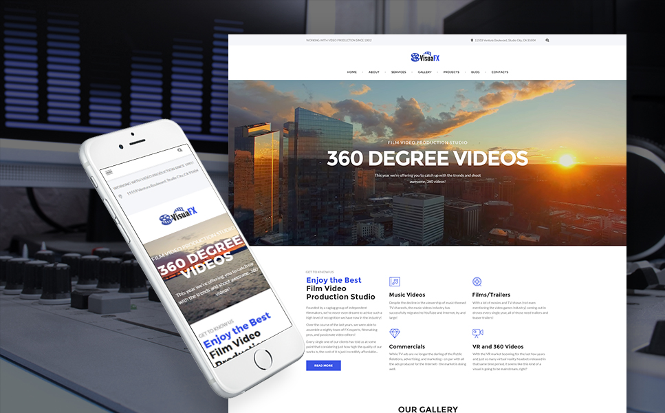 Movie Production Studio WordPress Theme