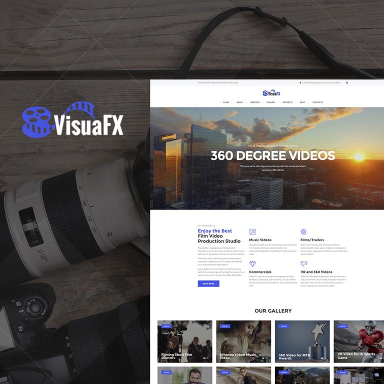 VisuaFX - Film Video Production Studio Responsive WordPress Theme New Screenshots BIG