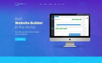 Webbox - One Page Product Landing WordPress Theme
