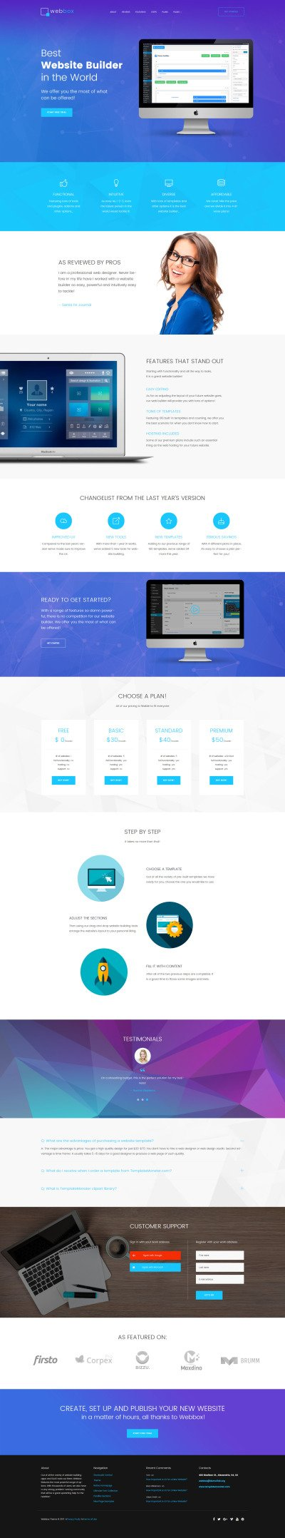 Webbox - One Page Product Landing