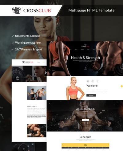 Responsive Website Vorlage für Fitness
