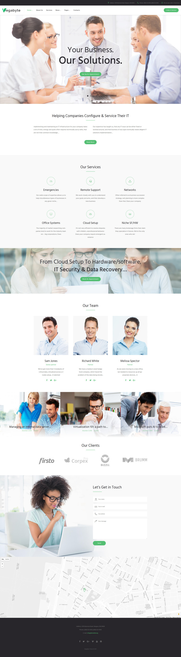 WegaByte - IT Consulting Firm WordPress Theme New Screenshots BIG