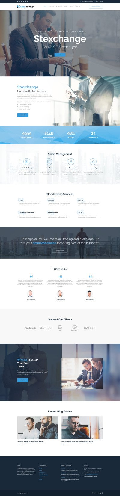 Responsives WordPress Theme für Finanz