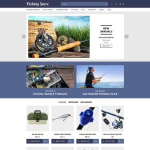 Screenshot of Fishing Store Site Fisherman Boat Rods