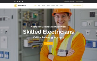 VoltaBolt - Electrician Services Responsive WordPress Theme