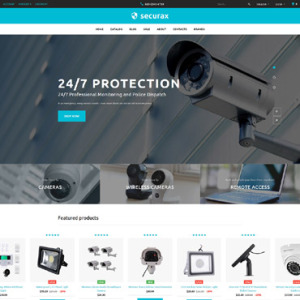 Screenshot of Securax Security Systems