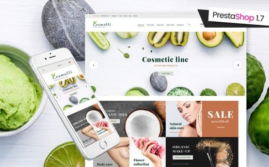 Cosmetti Organic Cosmetics main view