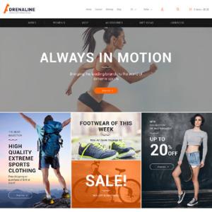 Screenshot of Adrenaline Shoes Store